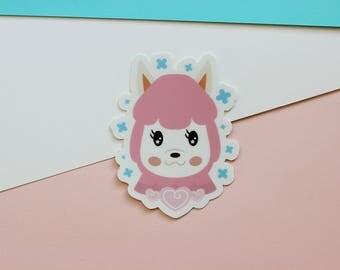 "Animal Crossing Reese Sticker - AC Pocket Camp - Matte Die Cut Alpaca 3"" Sticker- FairyFlux"