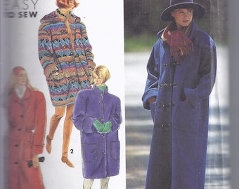 Simplicity 7457 from 1991 Sewing Pattern for Women: Misses Lined Coat with Detachable Hood  Bust 30 1/2-46