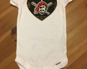 Pittsburgh Pirates Heart Onesie