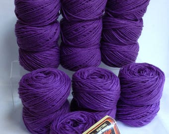 Sears Yarn Knitting Worsted Yarn Sayelle Orlon Acrylic Yarn Bundle Soft Textured Amethyst Purple Yarn for Knitting Fiber Art Projects