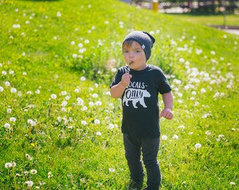 The Charcoal Beanie, modern kids and baby slouchy / slouch beanie
