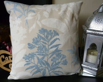 "LAURA ASHLEY TENBY Seaspray Cushion Cover. Duck Egg Blue, Cream. 16"" x 16""."