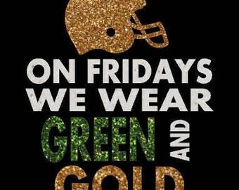 Glitter Football iron on, Custom glitter heat transfer, Your team colors, School Spirit, Customization available