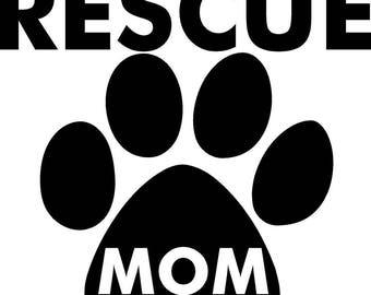 Rescue Mom Vinyl Stickers