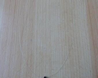 Collier goutte facetée en onyx (pierre véritable)