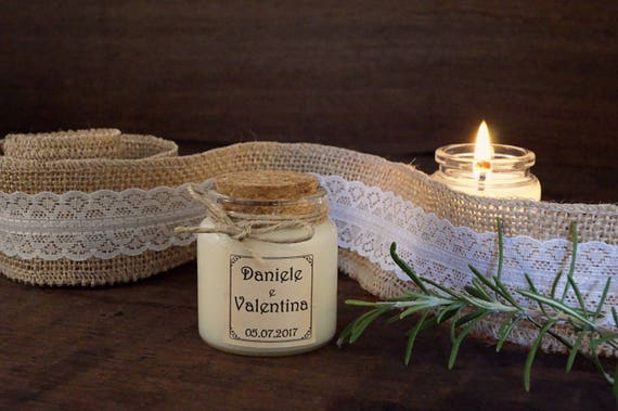 Bomboniera Matrimonio Country Chic : Bomboniera per matrimonio country chic candela bio con tappo