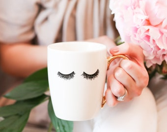 Eyelashes Coffee Mug | Coffee Cup Mug Sister Gift Best Friend Gift For Women Gift For Her Girlfriend Gift Bridesmaid Box Bridesmaid Gift