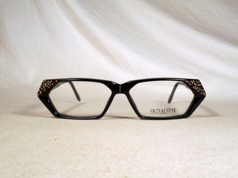 ae98c4e85d3 fabulous vintage sunglasses lunettes eyeglasses 1980 cat eye carved  decorated frame france rare