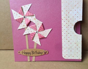 Handmade women birthday card