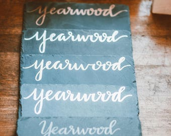 Personalized Hand Lettered Slate Board