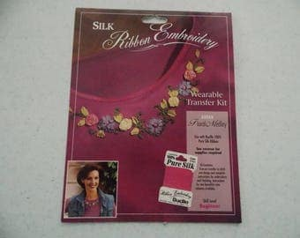 Wearable Transfer Kit for Silk Ribbon Embroidery