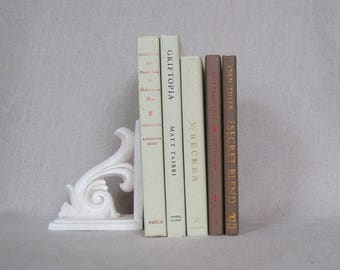 Light Green and Brown Decorative Books Set, Stack of Books, Wedding Centerpiece, Home Staging, Farmhouse Books, Book Bundle, Spring Woodland