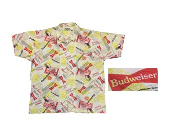 Rare Vintage Budweiser button down shirt