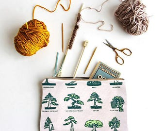 Gift for Gardeners. Botany Bonsai garden  Pouch & Pencil Case / Gifts for Mom, her, gardeners, botanists, plants Mothers Day Gifts   Plants