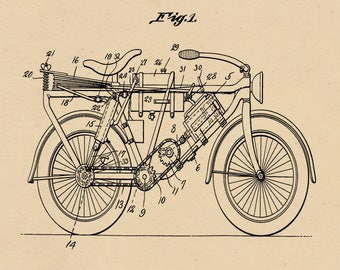 Air Propelled Motorcycle Patent #1,780,705 dated June 1, 1925.