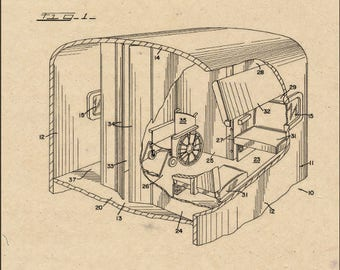 Sleeping Car Patent #4,161,914 dated July 24, 1979.