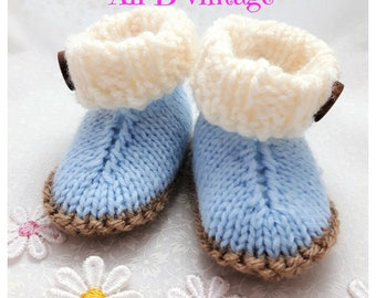 Baby ugg boots Booties Baby boy Boots Knitted Boots socks Baby Gift Baby shower Baby Footwear Baby Clothing blue boots ugg style boots blue