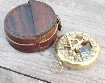 compass, sundial compass, nautical compass, engraved compass, personalized compass, groomsmen gift, wedding gift, anniversary gift