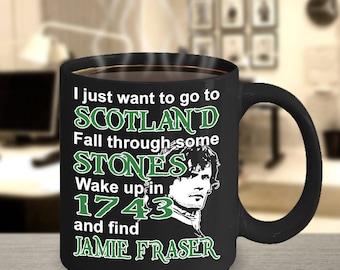 Jamie Fraser Mug, Outlander Mug, Outlander inspired, Outlander gifts, Outlander Fan gear