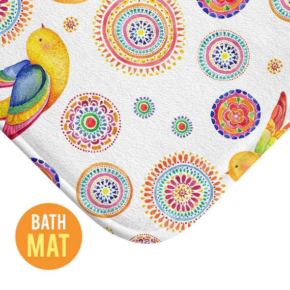 Birds Bath Mat - Available in Two Sizes