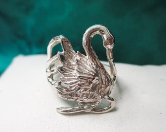 Sterling Silver Swan Ring