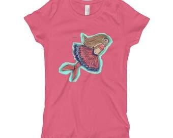 Mermaid princess of ZVITOK (Girl's T-Shirt)