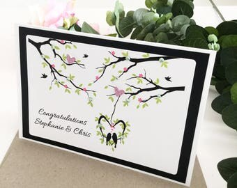 Engagement Card, Just Engaged Card, Getting Married Card, Congratulations Card, Newly Engaged Couple, Engagement Gifts for Couple, Handmade
