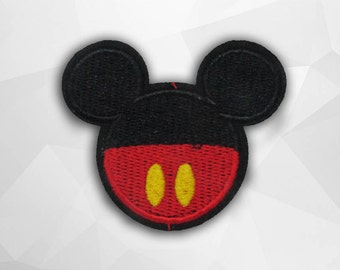 Mickey Mouse Iron on Patch(M2) - Cartoon Applique Embroidered Iron on Patch - Size 6.9(W)x6.0(H) cm