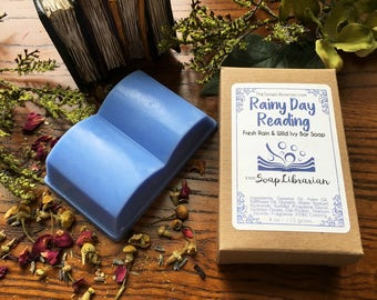 Rainy Day Reading Bar Soap - Natural Soap, Book Lovers Gift
