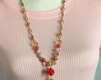 Sunrise Flower Necklace