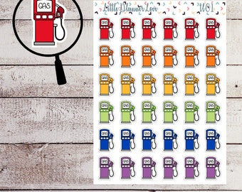 Gas Pump Planner Stickers for all Planners
