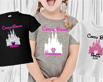Castle Bound Shirt ~ Girl's Disney Shirt ~ Disney Bound Tee