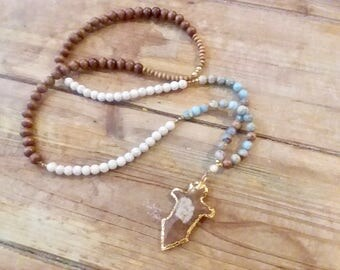READY TO SHIP | The Arrowhead Cross Necklace | Cross Necklace | Arrowhead Necklace | Necklace | Beaded Jewelry | Necklace | LoLe's Nest