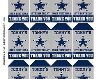 Cowboys Inspired thank you/gift tags
