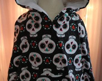 Sugar Skull / Dia de Los Muertos Poncho