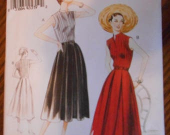 New Womens 1950 Retro Historical Dress Pattern - Sizes 8-14