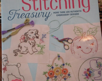 Vintage Stitching Treasury- book - More than 400 Authentic Embroidery Designs