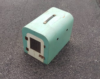 Vintage pet carrier box from england,wooden pet cat box transporter