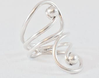 Two Drops Sterling Silver Ring - Mexican Jewelry