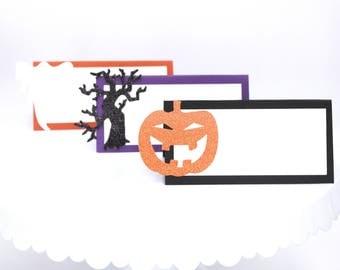 Halloween Food Labels, Halloween Table Cards, Halloween Birthday Food Label Cards, Halloween Party Food Tents, Customizable