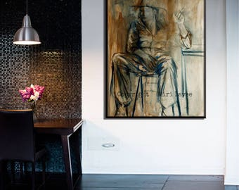 Modern Office Contemporary Art, Extra Large Painting, Masculine Wall Art, Contemporary Wall Art, Innovative Office Pictures, Art for Office