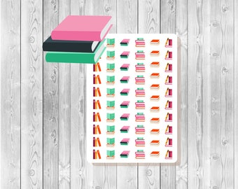 S008 - 60 Book Stack Planner Stickers