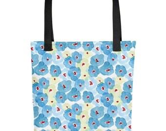 Blue Floral Tote bag   Bag   Studio Carrie   Gift