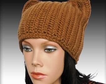Chunky hat pattern Crochet beanie pattern Ears hat crochet pattern Crochet hat patterns Beanie hat patterns Beanie hat pattern Hat tutorial