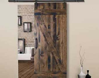 Farm Style Sliding Barn Doors.   CELLAR STYLE Stained   Painted    Unfinished   33