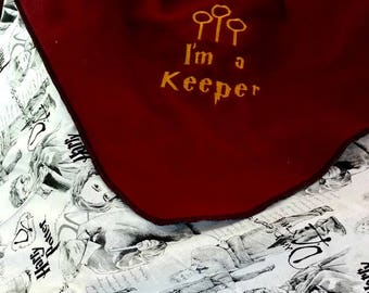 Harry Potter Inspired Fleece Baby Blanket - Personalized name - I'm a Keeper -  Baby shower gift - unique gift - baby bedding accessory