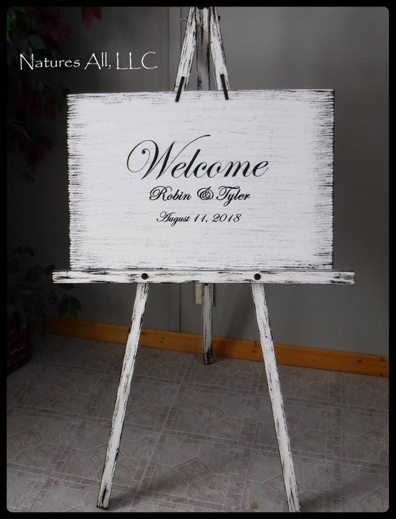 Wedding Sign-Welcome/ Large Wedding Sign/Custom Wedding Sign/Rustic Welcome Wedding Sign/Wood Wedding Sign/Wedding Reception Welcome Sign