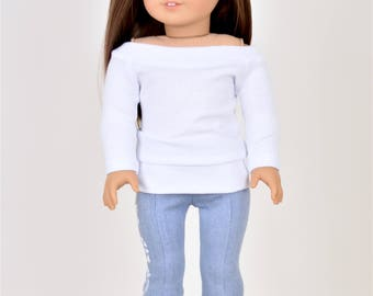 Pullover 18 inch doll clothes White