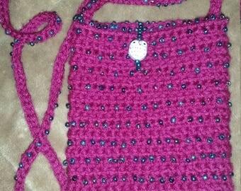 Handmade Crochet Girl's Beaded Mini-Purse
