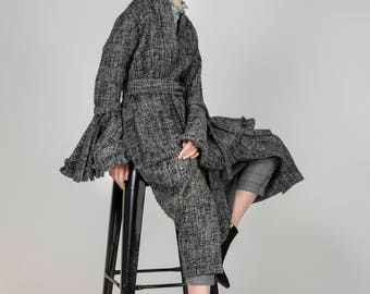 AW18, Irene Grey Knitted Coat by Other Theory, 18AW004